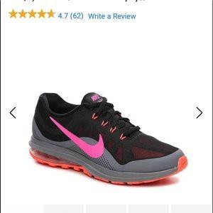 Nike Max Dynasty 2 in black/pink/orange